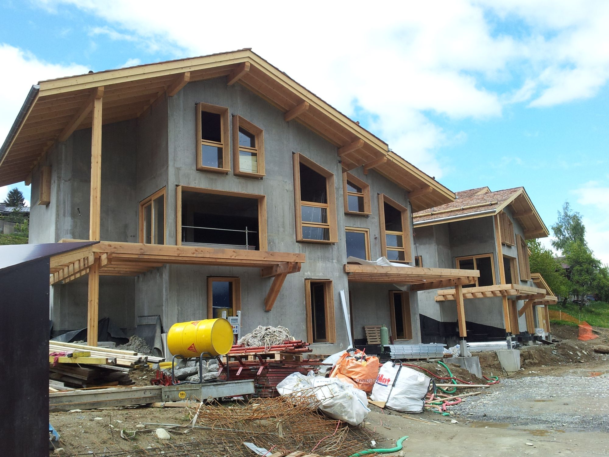 Actualité chantier des Fermes du Mont Blanc à Combloux